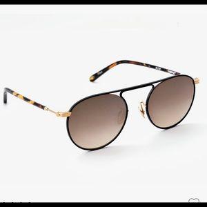 KREWE RAMPART Sunglasses - Matte Black  + Honey 24K Mirrored Lifetime Warranty